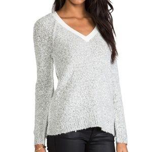 SANCTUARY Womens Gray Winter V-Neck Sweater